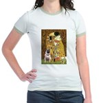 The Kiss / Pug Jr. Ringer T-Shirt