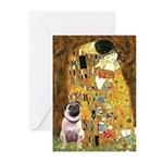The Kiss / Pug Greeting Cards (Pk of 20)