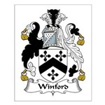 Winford Family Crest Small Poster