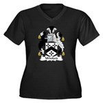 Winford Family Crest Women's Plus Size V-Neck Dark