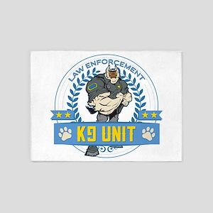 Law Enforcement K9 Unit 5'x7'Area Rug