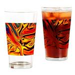 Native American Firebird Drinking Glass