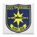 USS INGERSOLL Tile Coaster
