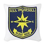 USS INGERSOLL Woven Throw Pillow