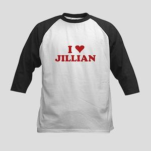 I LOVE JILLIAN Kids Baseball Jersey
