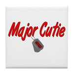 USCG Major Cutie Tile Coaster