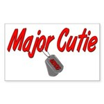 USCG Major Cutie Rectangle Sticker