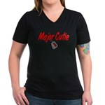 USCG Major Cutie Women's V-Neck Dark T-Shirt