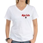 USCG Major Cutie Women's V-Neck T-Shirt