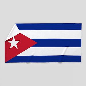 Flag of Cuba Beach Towel