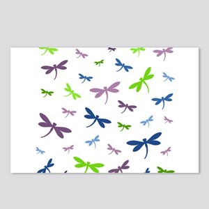 Purple, Green, and Blue D Postcards (Package of 8)