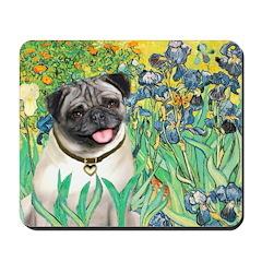 Irises / Pug Mousepad