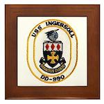 USS INGERSOLL Framed Tile