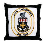 USS INGERSOLL Throw Pillow