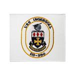 USS INGERSOLL Throw Blanket