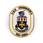 USS INGERSOLL Button