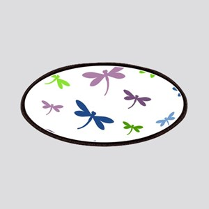 Purple, Green, and Blue Dragonflies Pattern Patch
