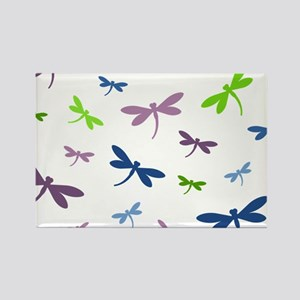 Purple, Green, and Blue Dragonflies Magnets