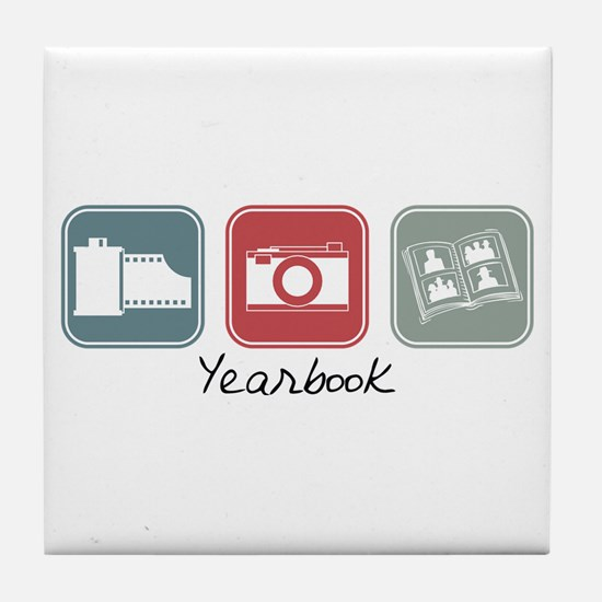 Yearbook (Squares) Tile Coaster