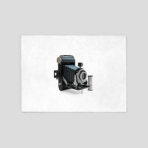 Vintage Camera 5'x7'Area Rug