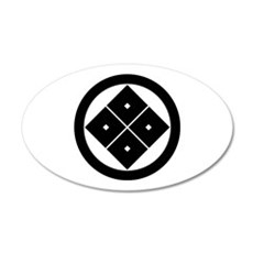 Tilted four-square-eyes in circle Wall Decal