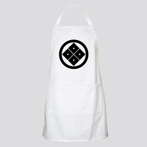 Tilted four-square-eyes in circle Apron
