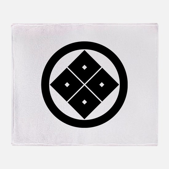 Tilted four-square-eyes in circle Throw Blanket