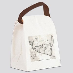 Vintage Map of Nantucket (1782) Canvas Lunch Bag