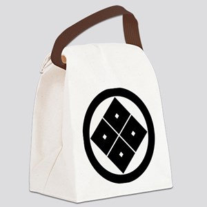 Tilted four-square-eyes in circle Canvas Lunch Bag