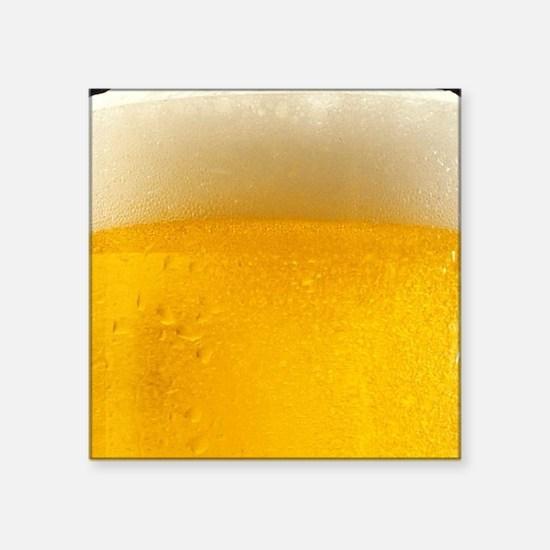 "Foamy Beer Mug Square Sticker 3"" x 3"""
