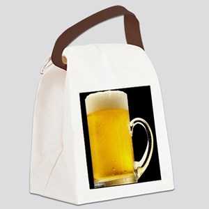 Foamy Beer Mug Canvas Lunch Bag