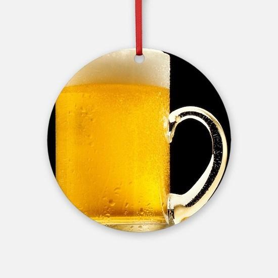 Foamy Beer Mug Round Ornament