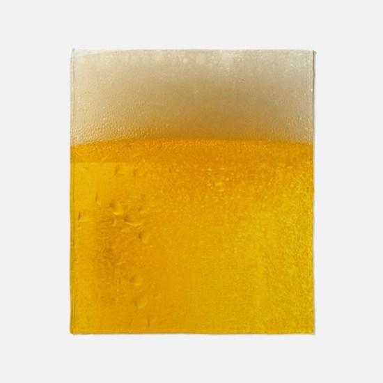 Foamy Beer Mug Throw Blanket