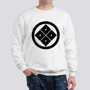 Tilted four-square-eyes in circle Sweatshirt