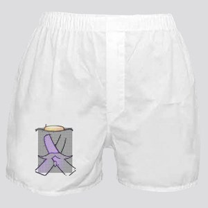 Purple Ribbon Moustache© Boxer Shorts
