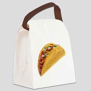 Hard Shell Taco Canvas Lunch Bag