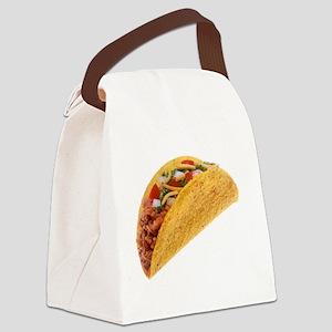 Hard Shell Taco Canvas Lunch Bag