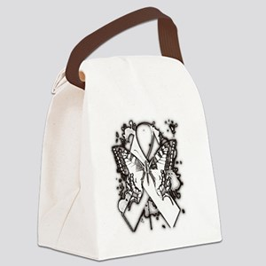 Butterfly ribbon© Canvas Lunch Bag