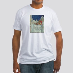 Christmas Sleigh Fitted T-Shirt