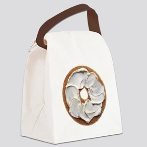 Bagel with Cream Cheese Canvas Lunch Bag