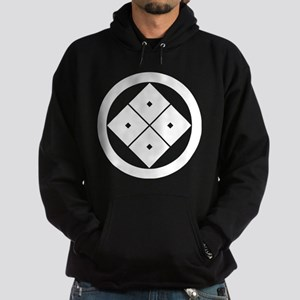 Tilted four-square-eyes in circle Hoodie
