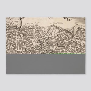Vintage Pictorial Map of New York C 5'x7'Area Rug