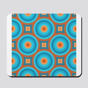 Orange and Blue Mid Century Modern Mousepad
