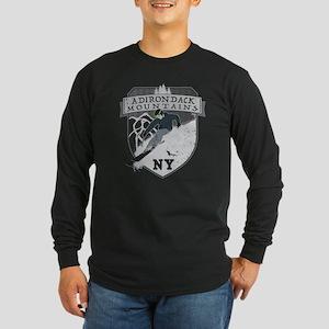 Ski Adirondacks Long Sleeve Dark T-Shirt