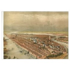 Vintage Pictorial Map of New York City (1874) Poster