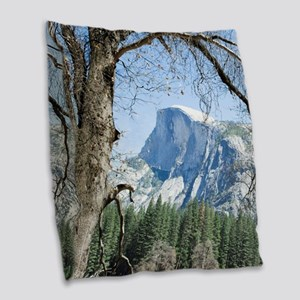 Yosemite's Half Dome Burlap Throw Pillow