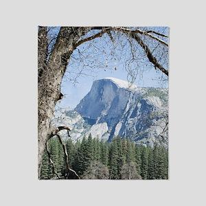 Yosemite's Half Dome Throw Blanket