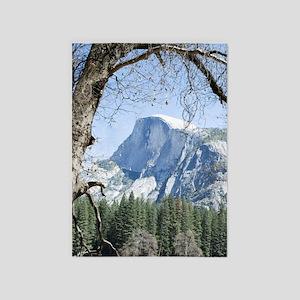 Yosemite's Half Dome 5'x7'Area Rug