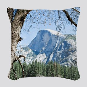 Yosemite's Half Dome Woven Throw Pillow