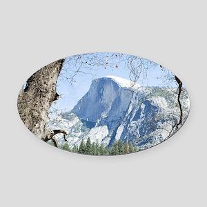Yosemite's Half Dome Oval Car Magnet